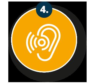 Maßgeschneidertes Hörgerät